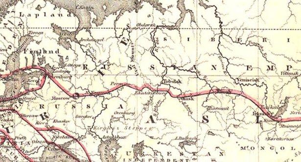 1869 - карта телеграфов