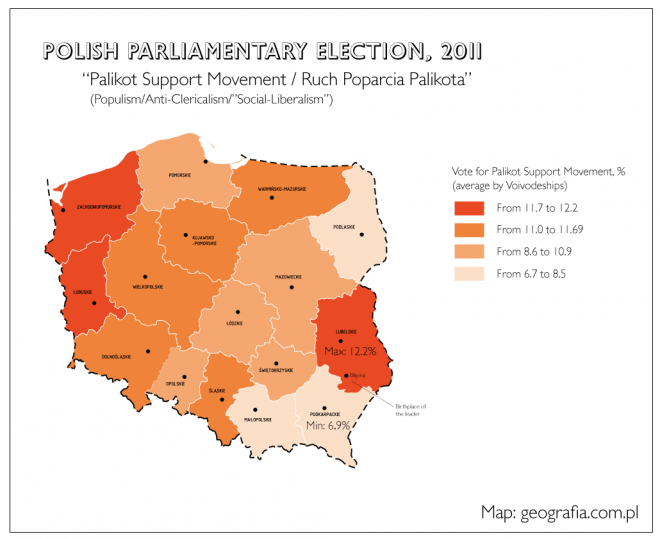 Выборы в Польше 2011 — карта | Блог Алексея Сидоренко: http://altzgamer.ru/2011/10/10/polish-elections-2011/