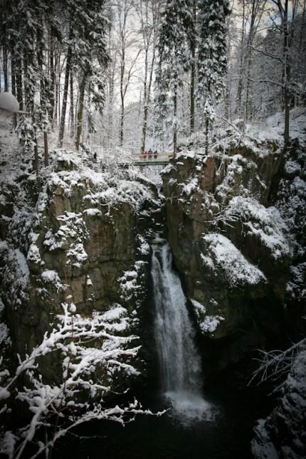 Водопад Вилчки в Мендзыгуже